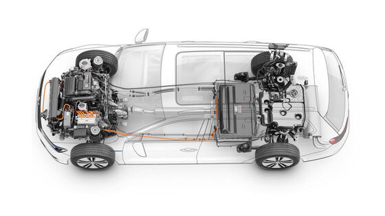 Grafik: Die VW Plug-In-Hybrid-Technologie